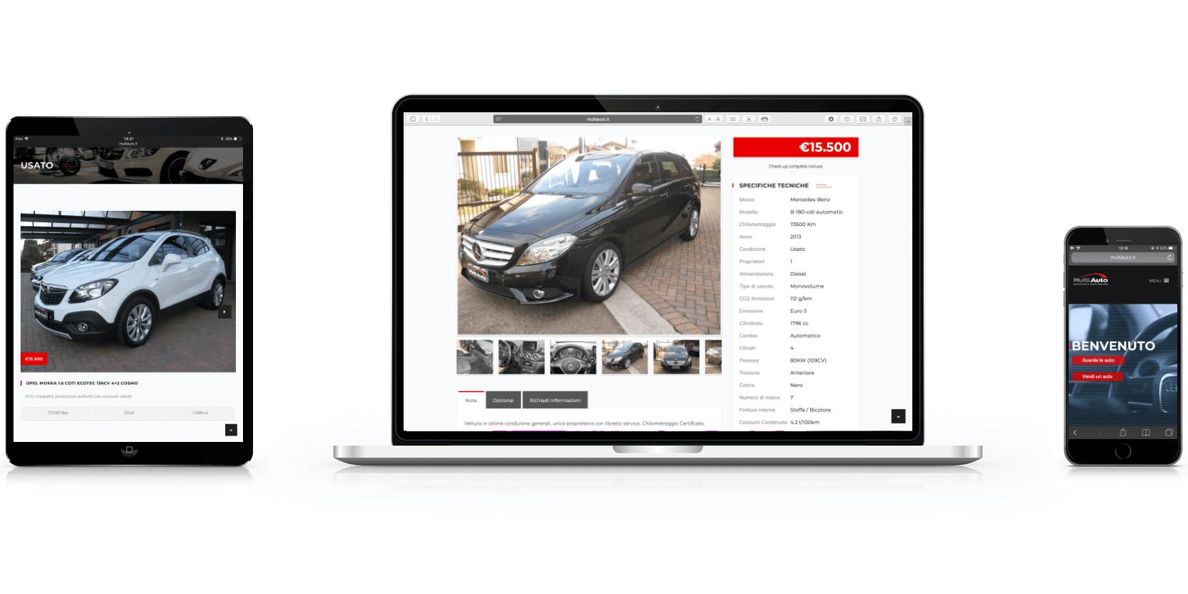 Realizzazione sito Web Multiauto