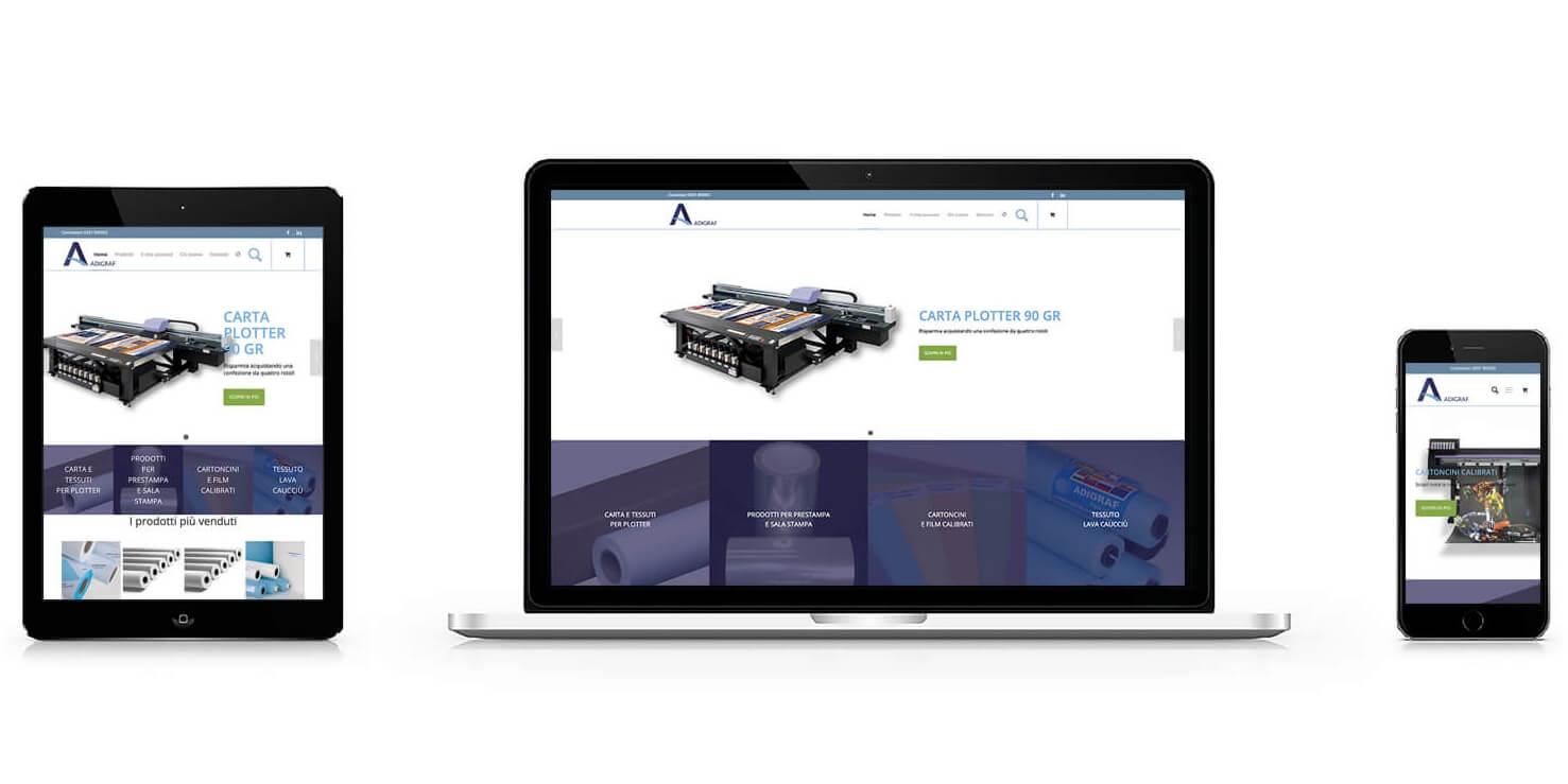 Realizzazione  sito e commerce Adigraf