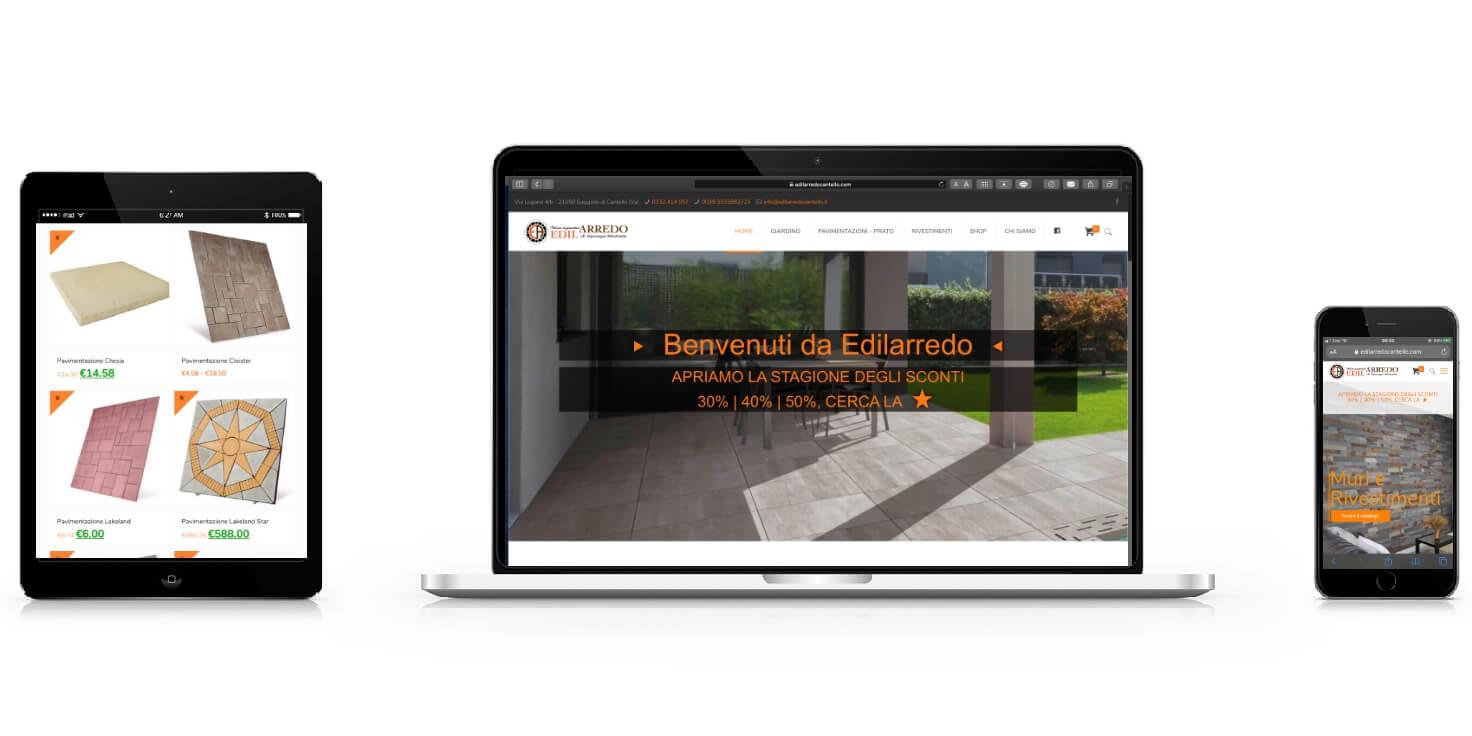 Realizzazione siti web aziendali e-commerce - Edilarredo Cantello