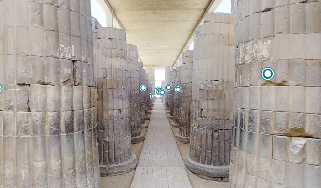 Colonnato d'ingresso al complesso di Djoser
